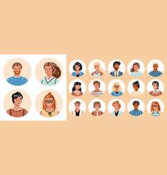 People avatar big bundle set different person vector
