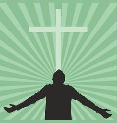People worshiping god vector