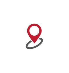 Pin map logo icon design vector