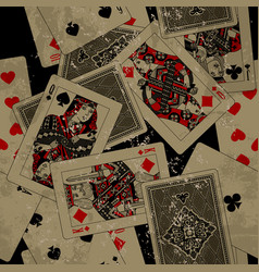 Playing cards seamless pattern background in vector