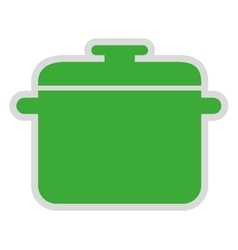 Pot cooking isolated icon design vector