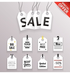 Price Sale Text Tag Symbol Labels Icons Set vector image