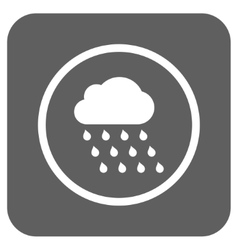 Rain Cloud Flat Squared Icon vector