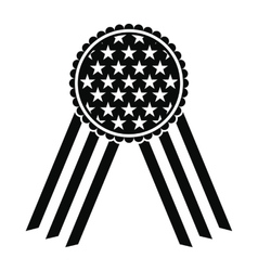 ribbon rosette in usa flag icon vector image