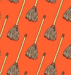Sketch mop in vintage style vector
