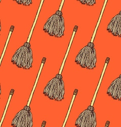 Sketch mop in vintage style vector image