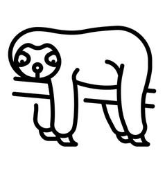 Sloth line vector