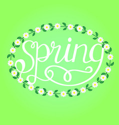 spring hand drawn inspiration quote vector image