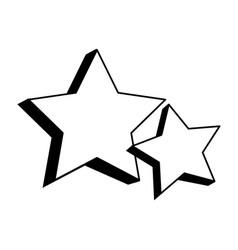 Stars galaxy universe icon cartoon in black vector