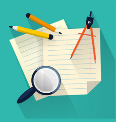 Stationery flat design vector