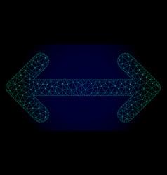 Swap arrows polygonal frame mesh vector