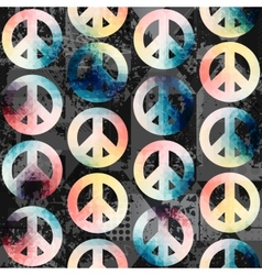 Symbols pacific retro pattern vector