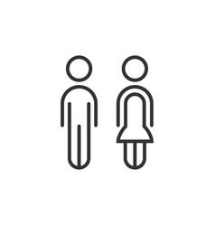 thin line couple male and female icon minimalistic vector image