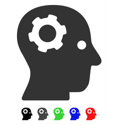 Thinking gear flat icon vector