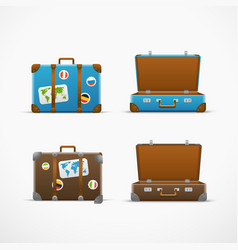 Travel bag set Vacation design template vector