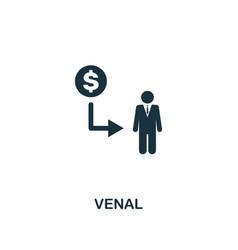 Venal icon premium style design from corruption vector