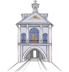 vilnius city gate vector image