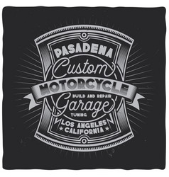 Vintage label design with lettering composition vector