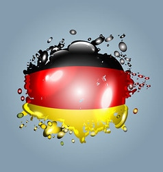 Water droplets with a German flag vector image