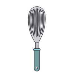 whisk kitchen utensil colorful silhouette vector image