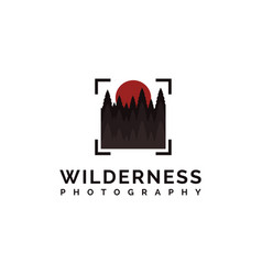 Wilderness photography logo vector