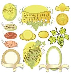 wine calligraphy 380 vector image