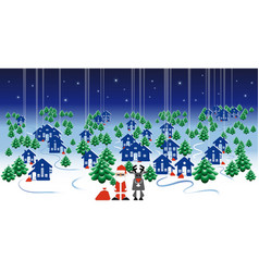 Winter landscape banner christmas design with vector