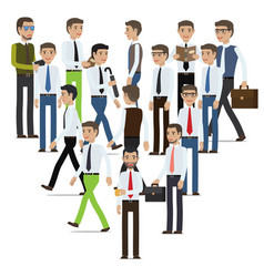 businessmen cartoon characters collection vector image