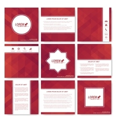 Square set of brochure Business science vector image vector image