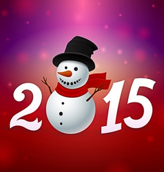 2015 background with snowman vector image vector image
