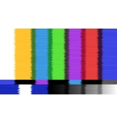 abstract background Distorted glitch TV vector image