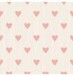 Abstract seamless retro pattern with hearts vector image vector image