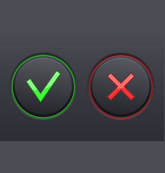 Cancel and submit black buttons vector
