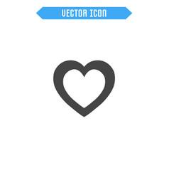 heart flat icon vector image