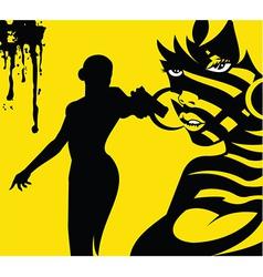 Killer woman vector image vector image