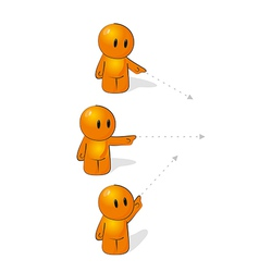 Orange Man vector image vector image
