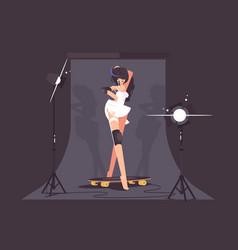 beautiful fashion model vector image vector image