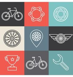 bike outline emblems vector image