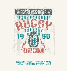 College team rugby retro emblem vector image vector image