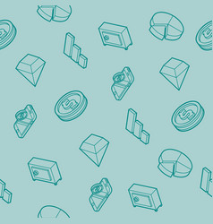finance flat outline isometric pattern vector image vector image