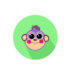 icon monkey smiling isolated on white background vector image