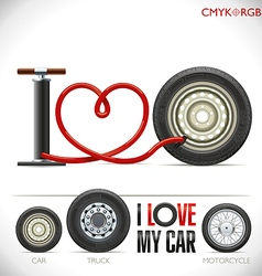 I Love My Car vector image vector image