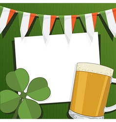 irish party card vector image