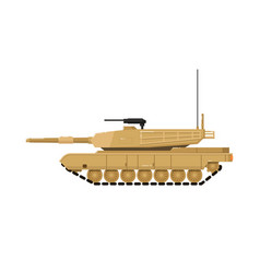 modern combat tank isolated icon vector image