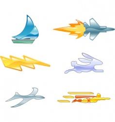speed design elements vector image