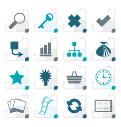 stylized simple internet and web site icons vector image