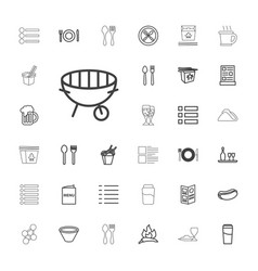 33 menu icons vector