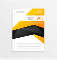 abstract yellow black and white magazine brochure vector image