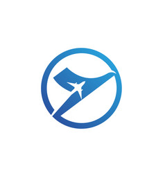 airplane fly logo and symbols template vector image