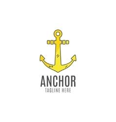 Anchor logo icon sea sailor symbol vector